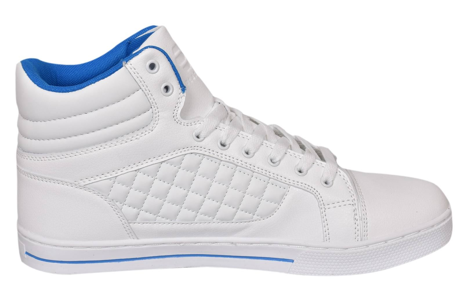 Mens-Trainers-Lace-up-Crosshatch-High-Tops-Ankle-Padded-Shoes-New-UK-Sizes-7-12 thumbnail 21