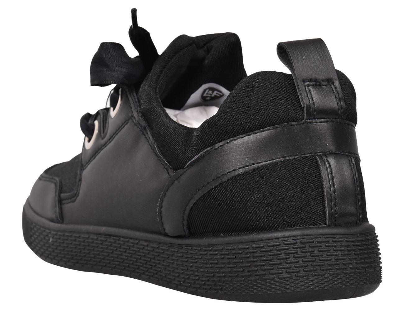 New Ladies Loyalty /& Faith Lace up Sneakers Black Platform Pumps Plimsolls Shoes