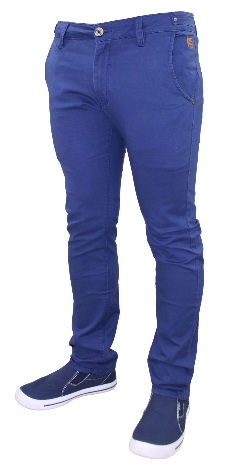 Men-Chinos-Trousers-Regular-Fit-Stretch-Cotton-Jeans-Pants-All-Waist-Sizes thumbnail 4