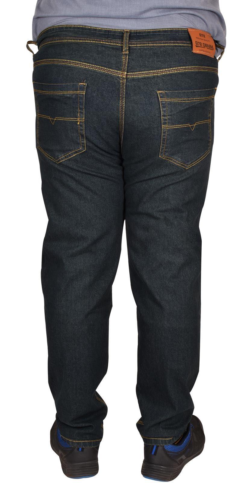 Men-Jeans-Straight-Leg-Stretch-Denim-Trouser-Pants-All-Waist-Big-Tall-King-Sizes thumbnail 4