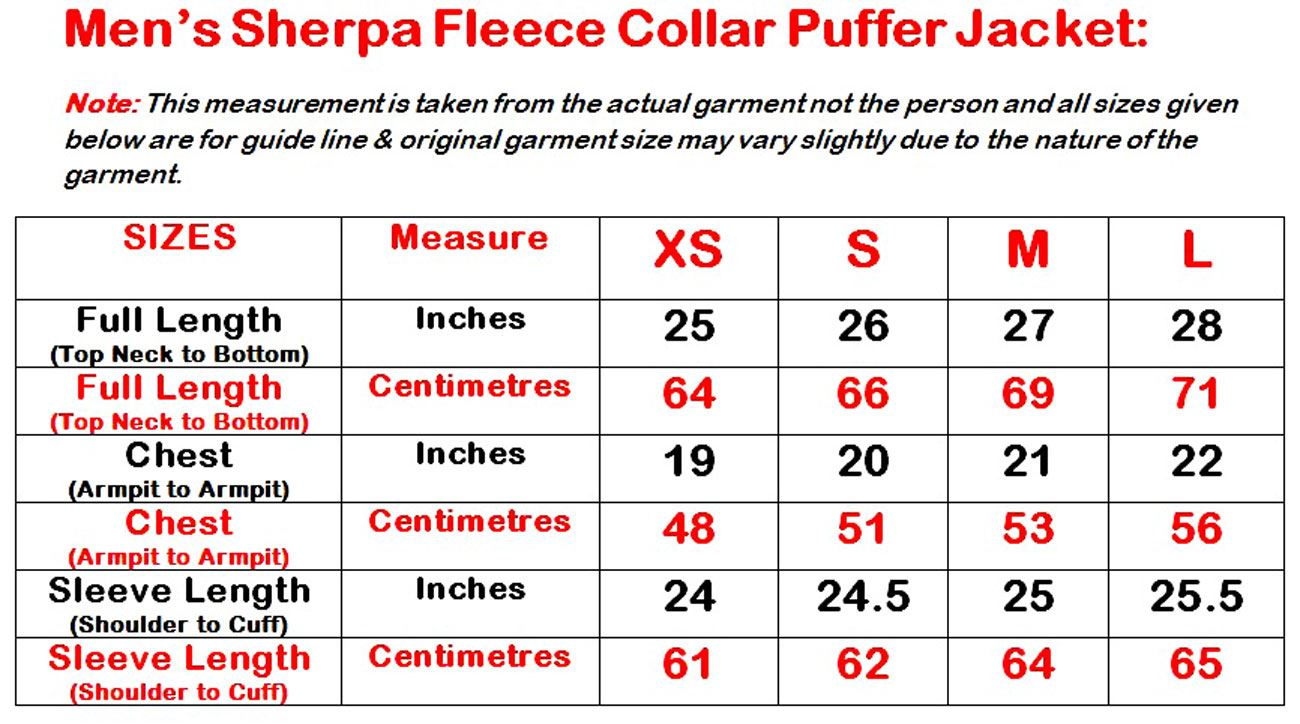 New-Mens-Puffer-Padded-Coat-Sherpa-Collar-Suede-Patches-Winter-Lined-Zip-Jacket thumbnail 4