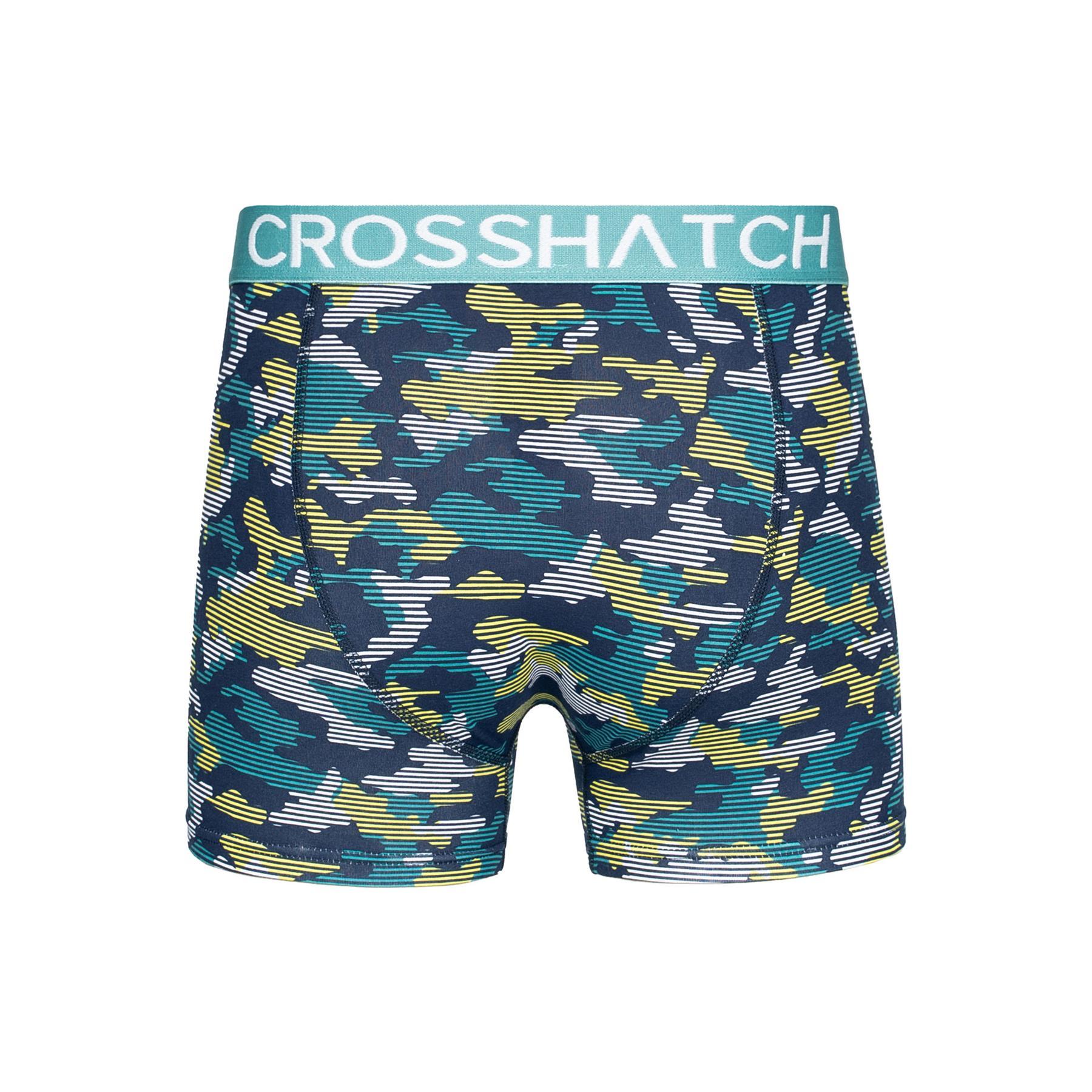 thumbnail 66 - Mens Crosshatch Boxers 3 Pack Shorts Underwear Trunks Underpants Multipack Sets