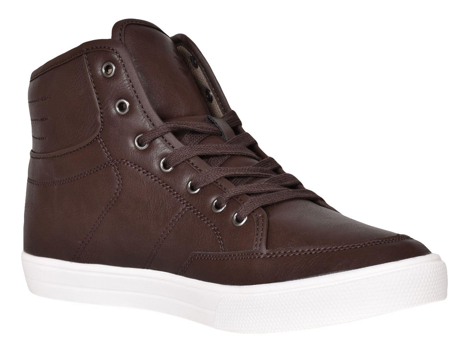 Crosshatch-Para-hombre-Tobillo-Alto-Zapatillas-Sneaker-Con-Cordones-Tapas-Planas-Botas-UK-Tamanos-7 miniatura 50
