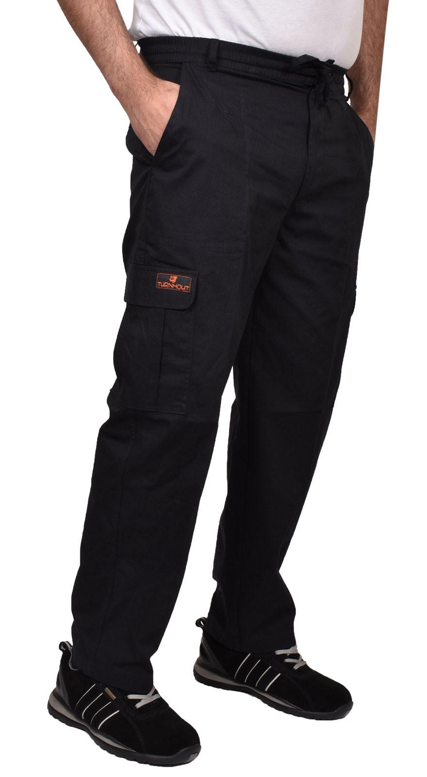 Para-Hombre-De-Carga-Combate-Pantalones-De-Trabajo-Bolsillos-Patrulla-Tactico-Pro-Algodon-Pantalones miniatura 5