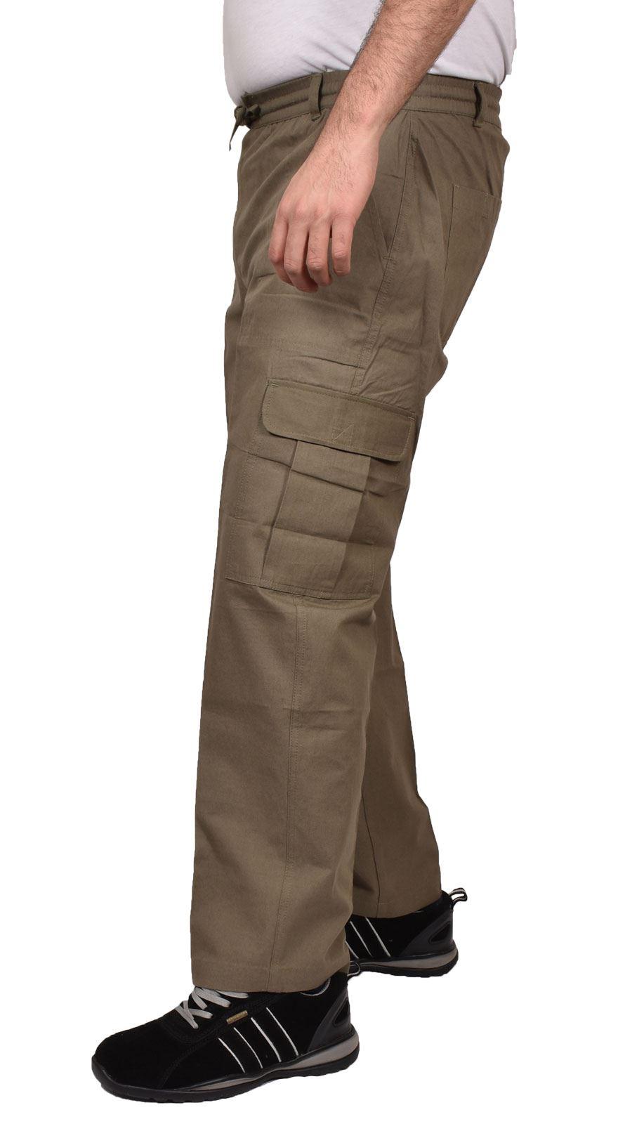 Para-Hombre-De-Carga-Combate-Pantalones-De-Trabajo-Bolsillos-Patrulla-Tactico-Pro-Algodon-Pantalones miniatura 15