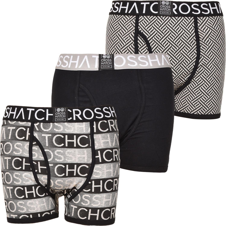 thumbnail 36 - Mens Crosshatch Boxers 3 Pack Shorts Underwear Underpants Trunks Multipack Sets
