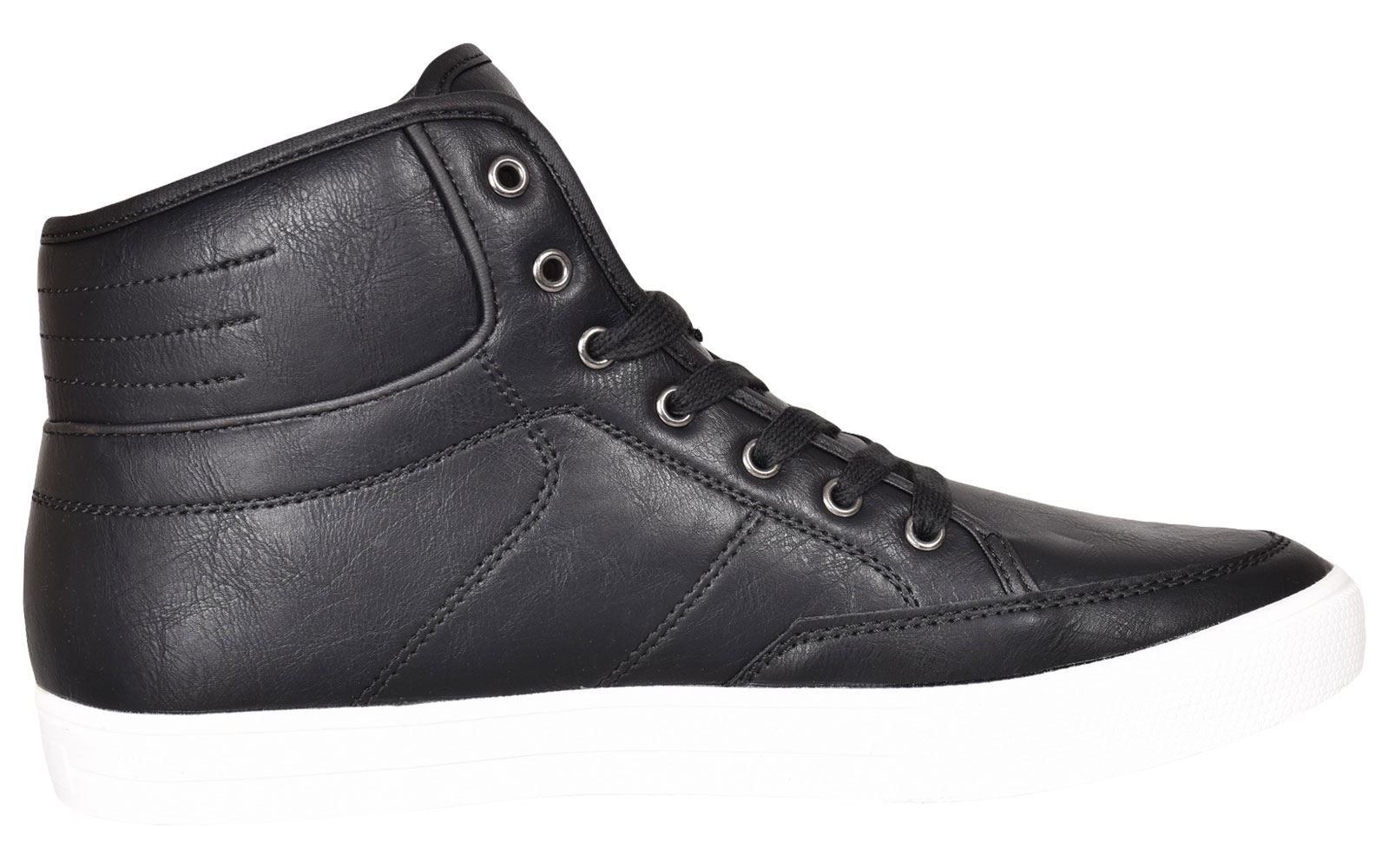 Crosshatch-Para-hombre-Tobillo-Alto-Zapatillas-Sneaker-Con-Cordones-Tapas-Planas-Botas-UK-Tamanos-7 miniatura 5