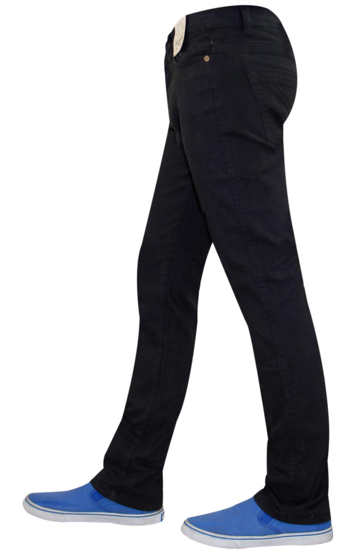 Mens-Jeans-Ajustados-Slim-Fit-Denim-Sarga-de-algodon-elastico-Pantalones-Chinos-Pantalones miniatura 13