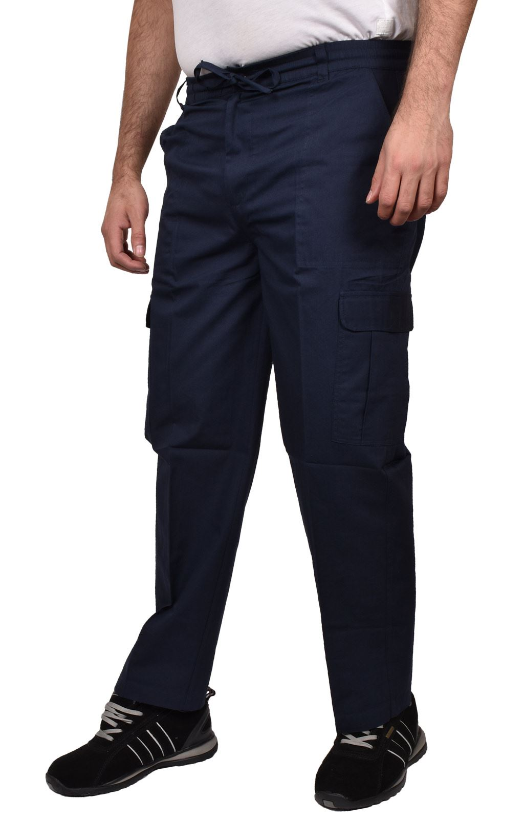 Para-Hombre-De-Carga-Combate-Pantalones-De-Trabajo-Bolsillos-Patrulla-Tactico-Pro-Algodon-Pantalones miniatura 11