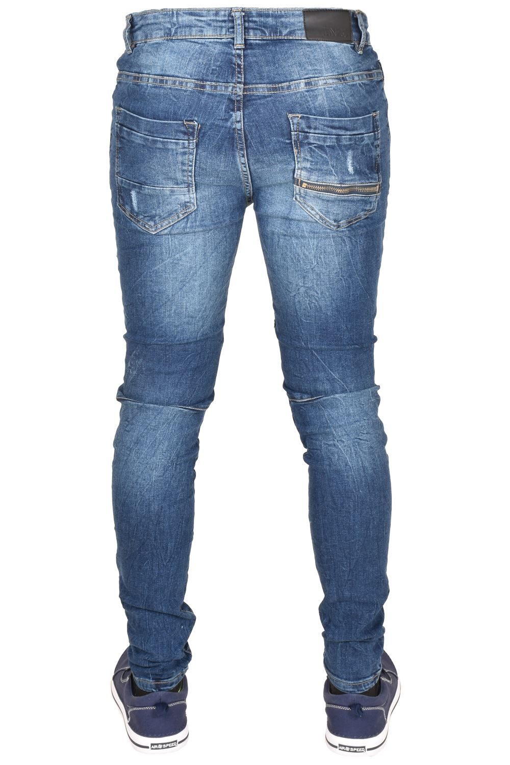 Enzo-Mens-Ripped-Jeans-Skinny-Slim-Fit-Denim-Pants-Casual-Trousers-Size-28-40 thumbnail 11
