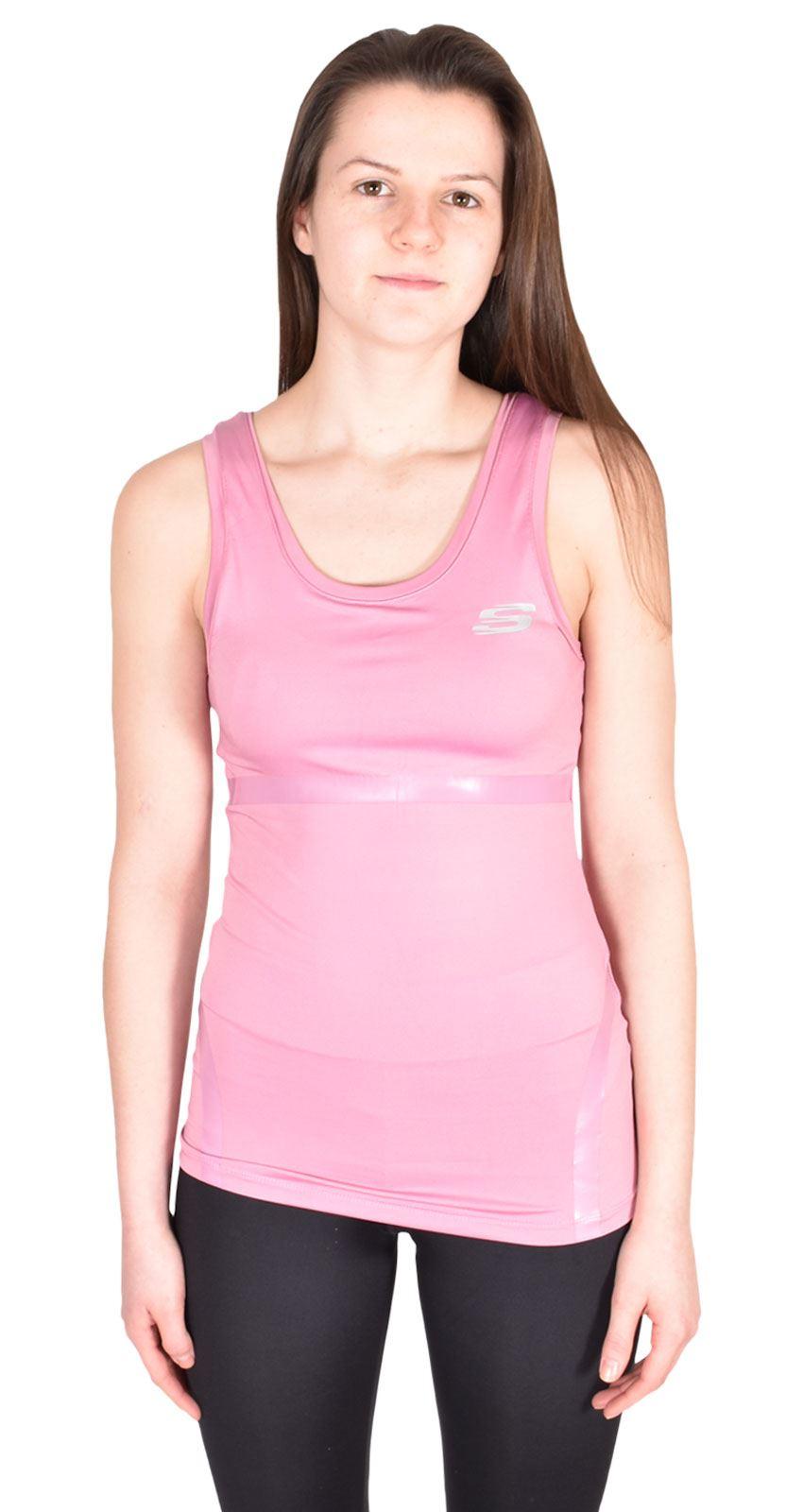 Ladies Skechers Stretctable Top Cotton Women Sports Dance Fitness Vest