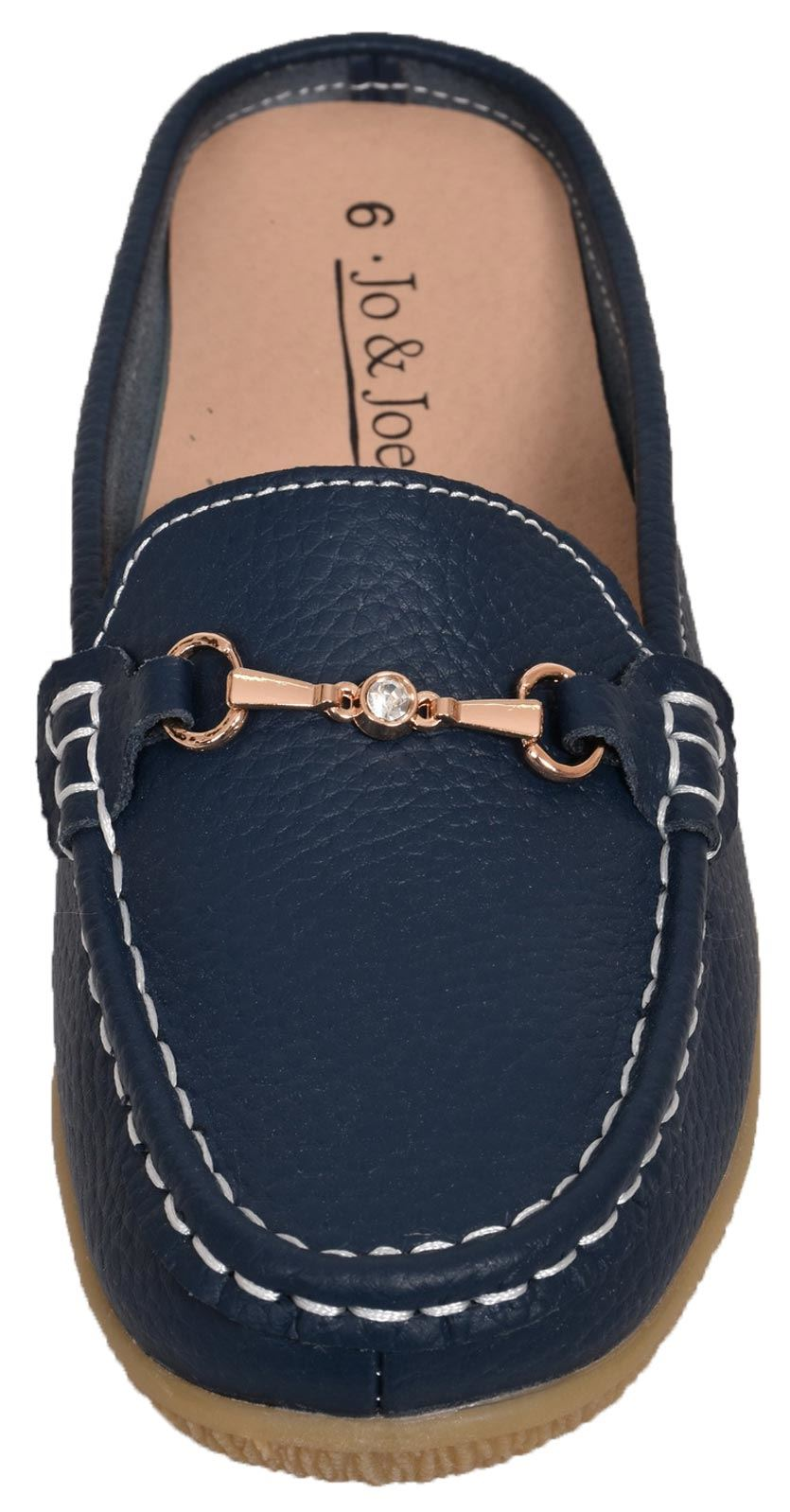 Ladies-Leather-Loafer-Mules-Comfort-Shoes-Womens-Slider-Moccasins-Shoes thumbnail 26