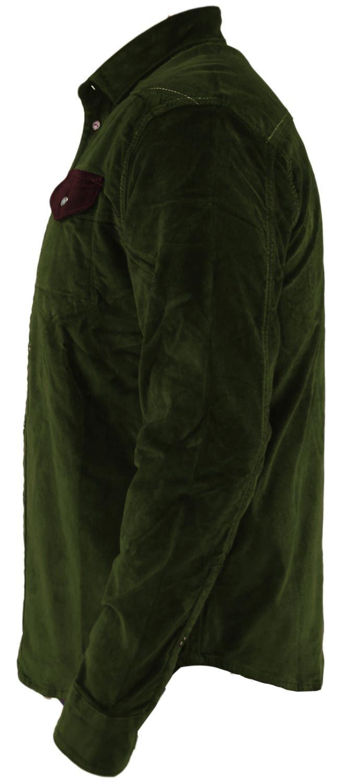 Mens-Corduroy-Cotton-Shirt-Long-Sleeve-Casual-Shirts-Jacksouth-Jacket-Top-S-2XL thumbnail 37