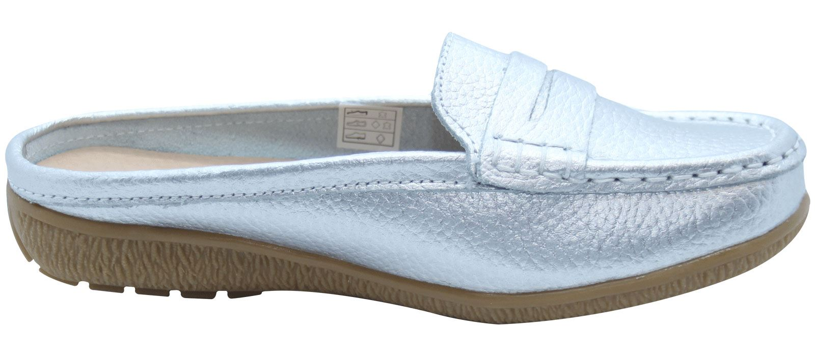 Ladies-Leather-Loafer-Mules-Comfort-Shoes-Womens-Slider-Moccasins-Shoes thumbnail 34