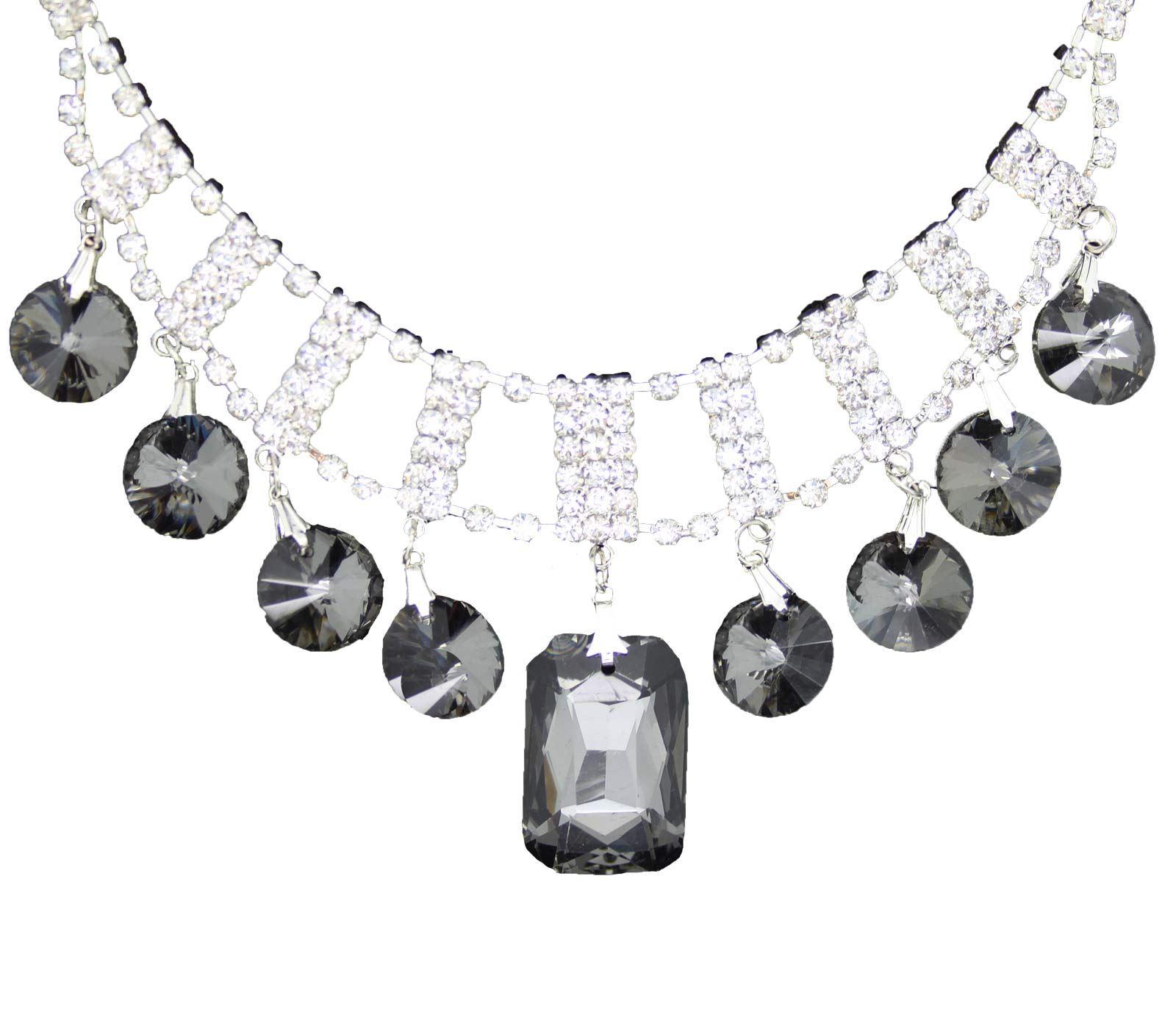 True-Face-Ladies-Women-039-s-Elegant-Earrings-Necklace-Set-Metal-Alloy-Jewellery thumbnail 30