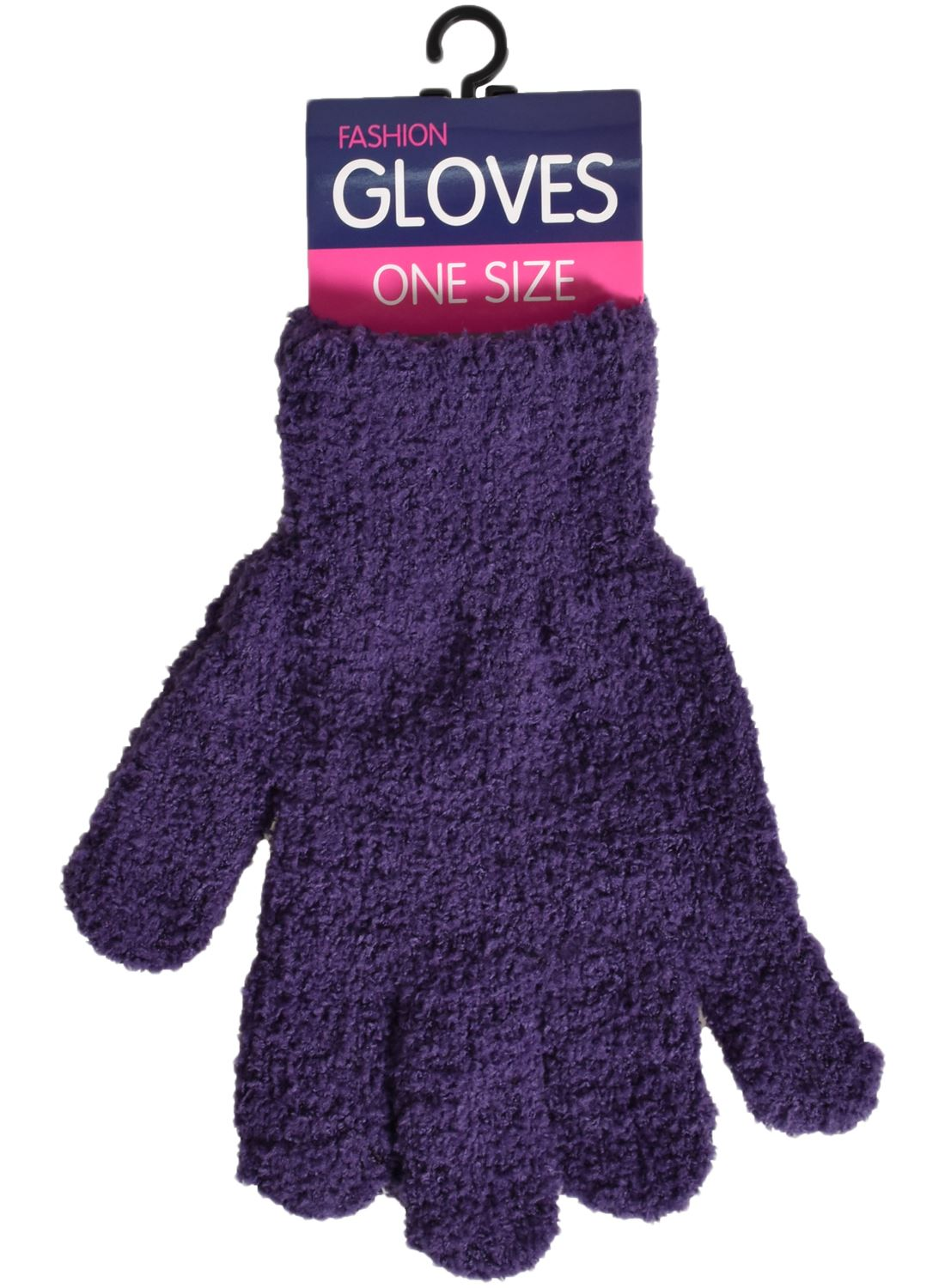 New Ladies Winter Chenille Woolly Knitted Stretchable Outdoor Warm Magic Gloves