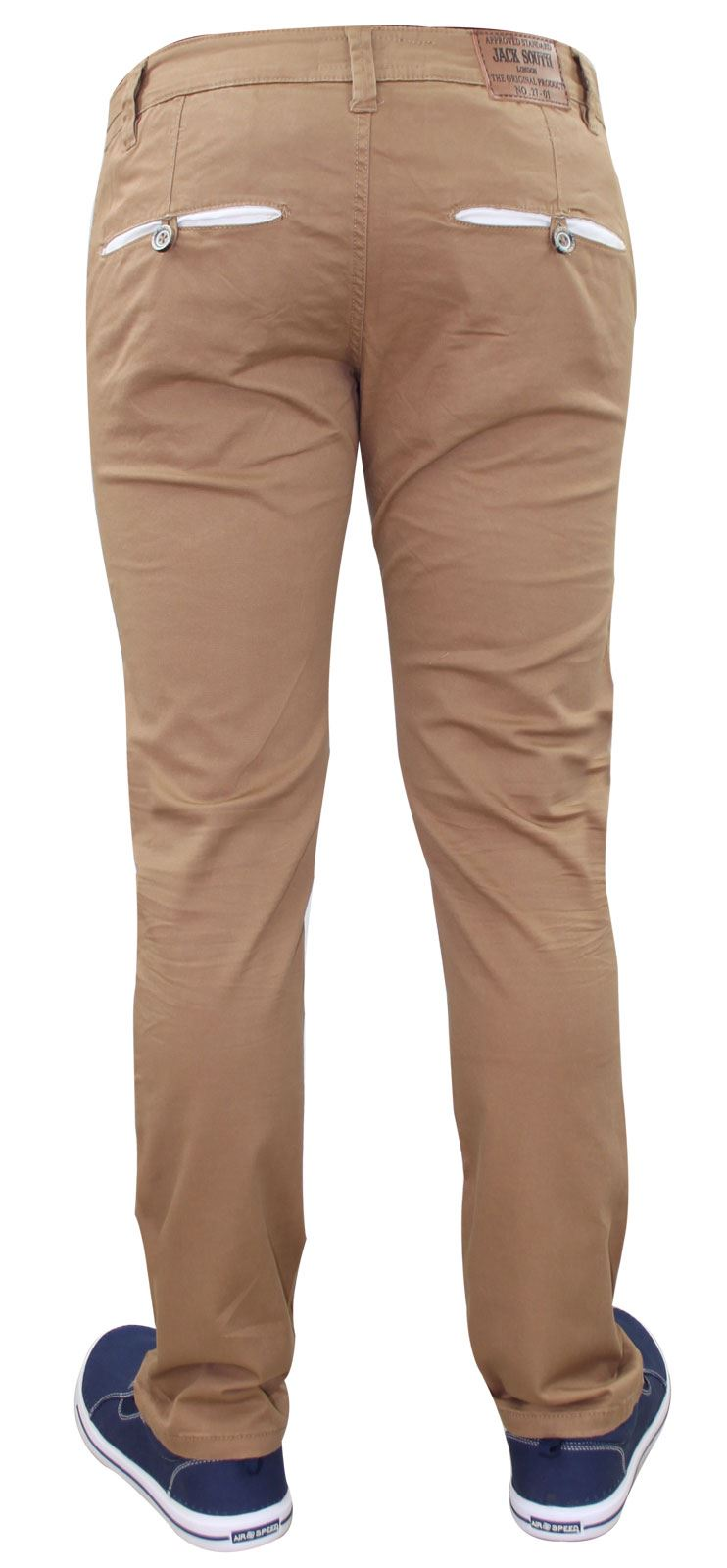 Men-Chinos-Trousers-Regular-Fit-Stretch-Cotton-Jeans-Pants-All-Waist-Sizes thumbnail 26