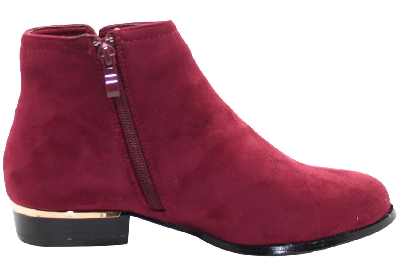 New-Women-Chelsea-Ankle-Boots-Winter-Block-Heel-Ladies-Biker-Style-Boots thumbnail 45