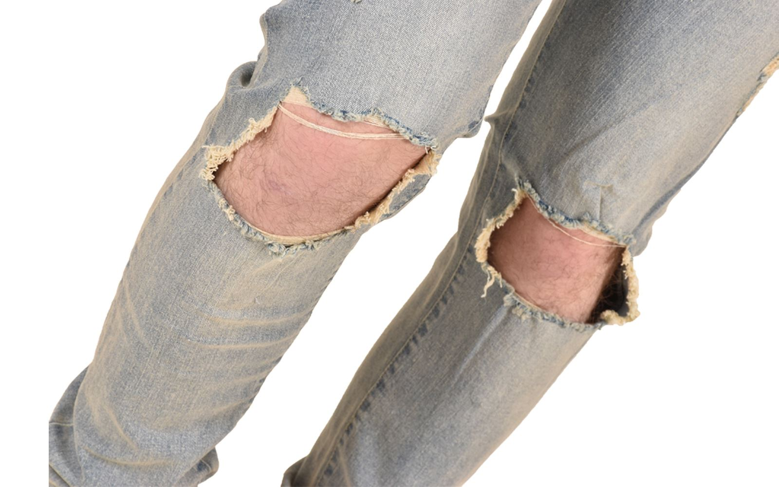 Mens-Ripped-Jeans-Skinny-Slim-Fit-Stretch-Distressed-Denim-Pants-Trousers-28-40 thumbnail 12