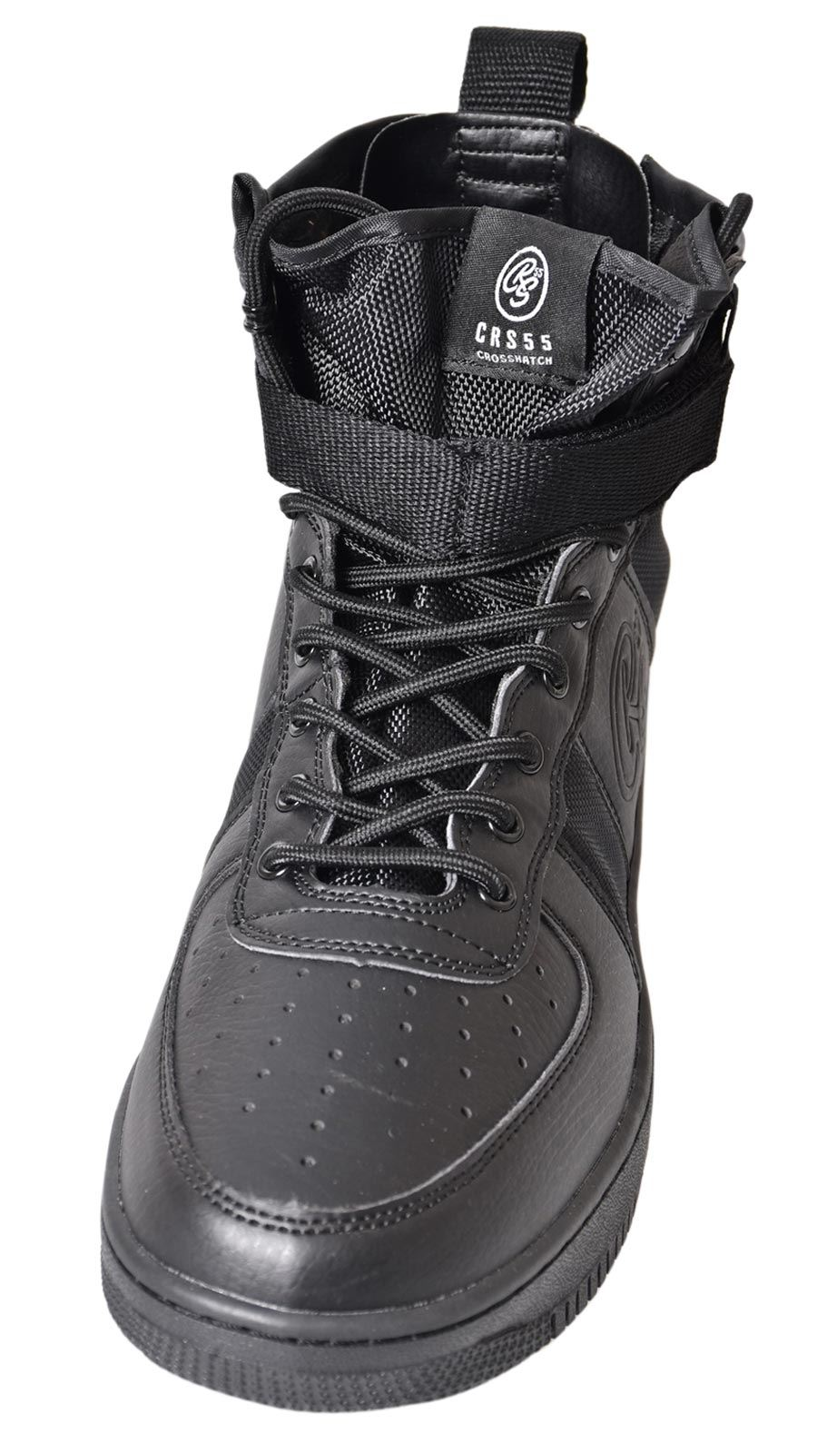 Mens-New-Crosshatch-Fleetfoot-Trainers-Hi-Top-Ankle-Boots-Lace-up-Comfy-Shoes thumbnail 6