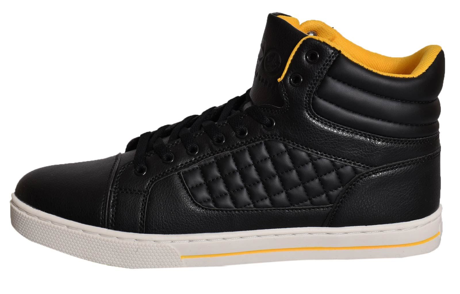 Mens-Trainers-Lace-up-Crosshatch-High-Tops-Ankle-Padded-Shoes-New-UK-Sizes-7-12 thumbnail 4