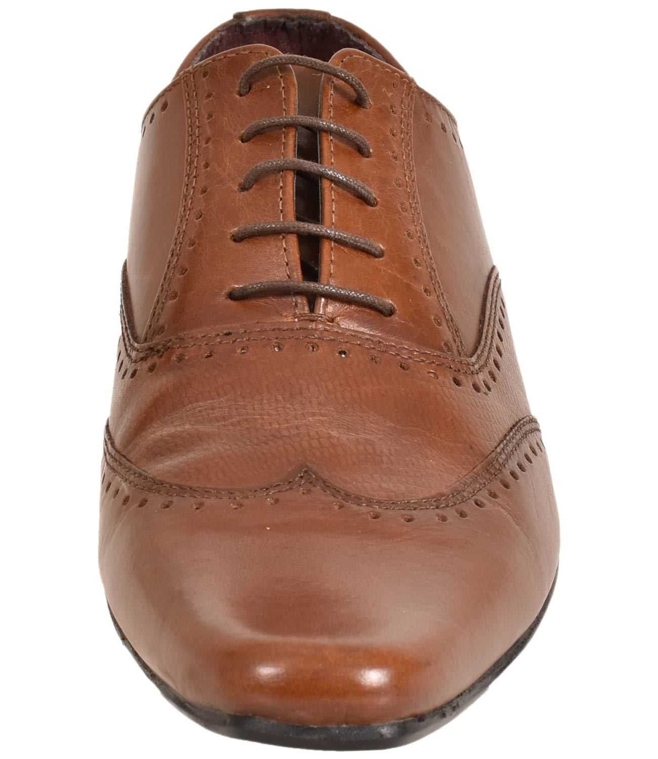 Mens-UK-Style-Leather-Lining-Formal-Office-Wedding-Smart-Work-Brogue-Shoes thumbnail 36