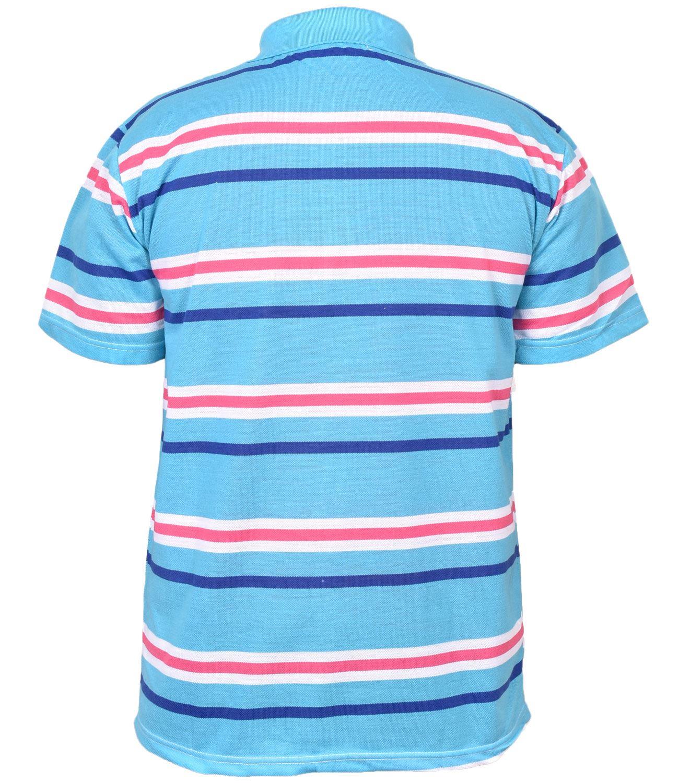 Mens-T-Shirts-Yarn-Dyed-Strip-Pocket-Polo-Shirt-Top-Multi-Colour-Size-M-3XL thumbnail 24