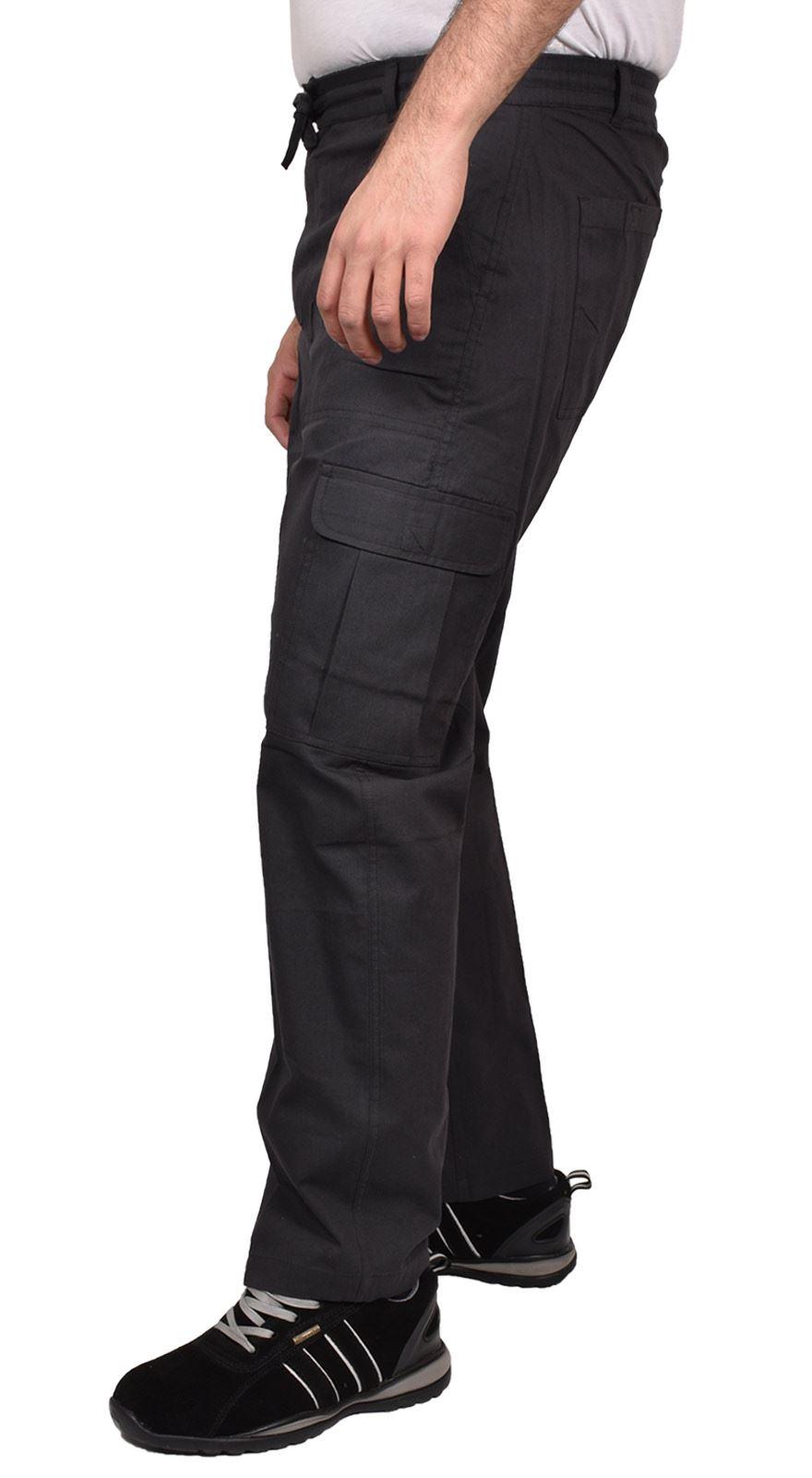 Para-Hombre-De-Carga-Combate-Pantalones-De-Trabajo-Bolsillos-Patrulla-Tactico-Pro-Algodon-Pantalones miniatura 7