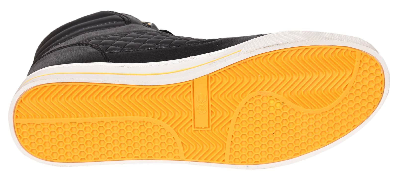 Mens-Trainers-Lace-up-Crosshatch-High-Tops-Ankle-Padded-Shoes-New-UK-Sizes-7-12 thumbnail 7