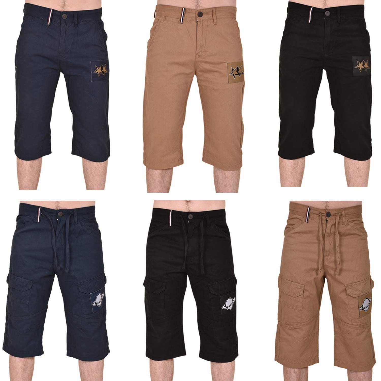 Boys Girls Kids Cotton Shorts Summer Casual Jeans Cargo Combat Beach Half Pants
