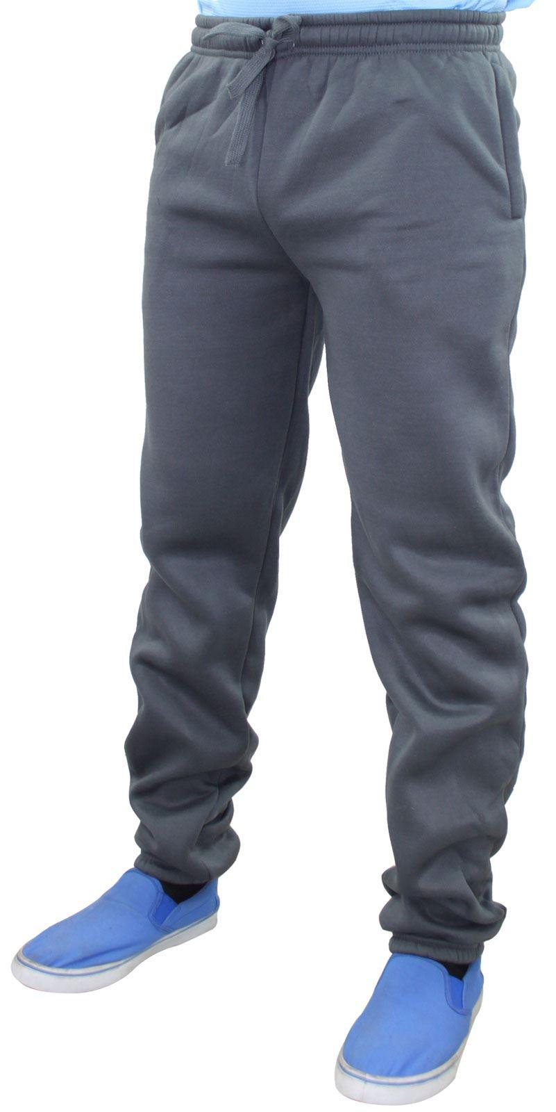 Mens-Women-Plain-Fleece-Joggers-Bottoms-Jogging-Pant-Gym-Fitness-Sports-Trousers thumbnail 3