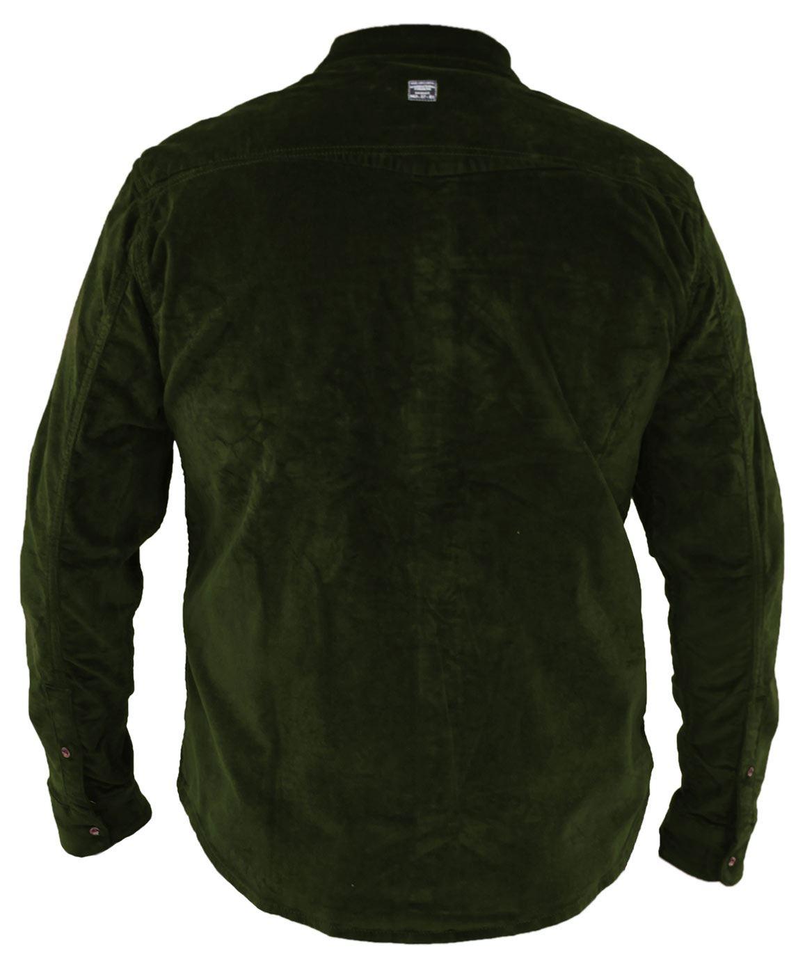 Mens-Corduroy-Cotton-Shirt-Long-Sleeve-Casual-Shirts-Jacksouth-Jacket-Top-S-2XL thumbnail 21