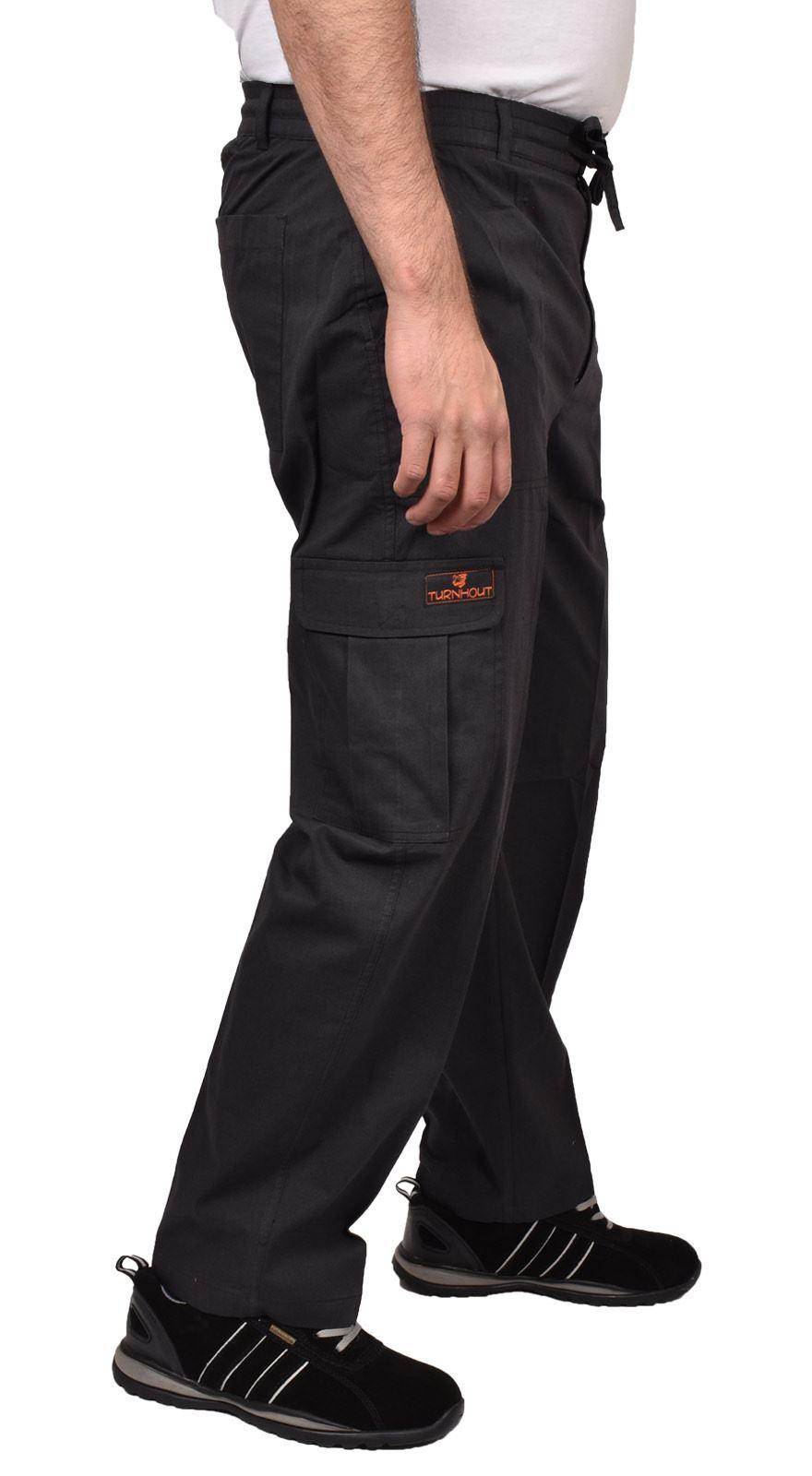 Para-Hombre-De-Carga-Combate-Pantalones-De-Trabajo-Bolsillos-Patrulla-Tactico-Pro-Algodon-Pantalones miniatura 9