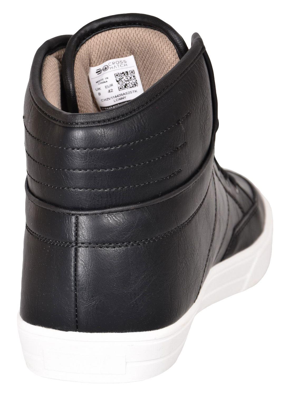 Crosshatch-Para-hombre-Tobillo-Alto-Zapatillas-Sneaker-Con-Cordones-Tapas-Planas-Botas-UK-Tamanos-7 miniatura 9