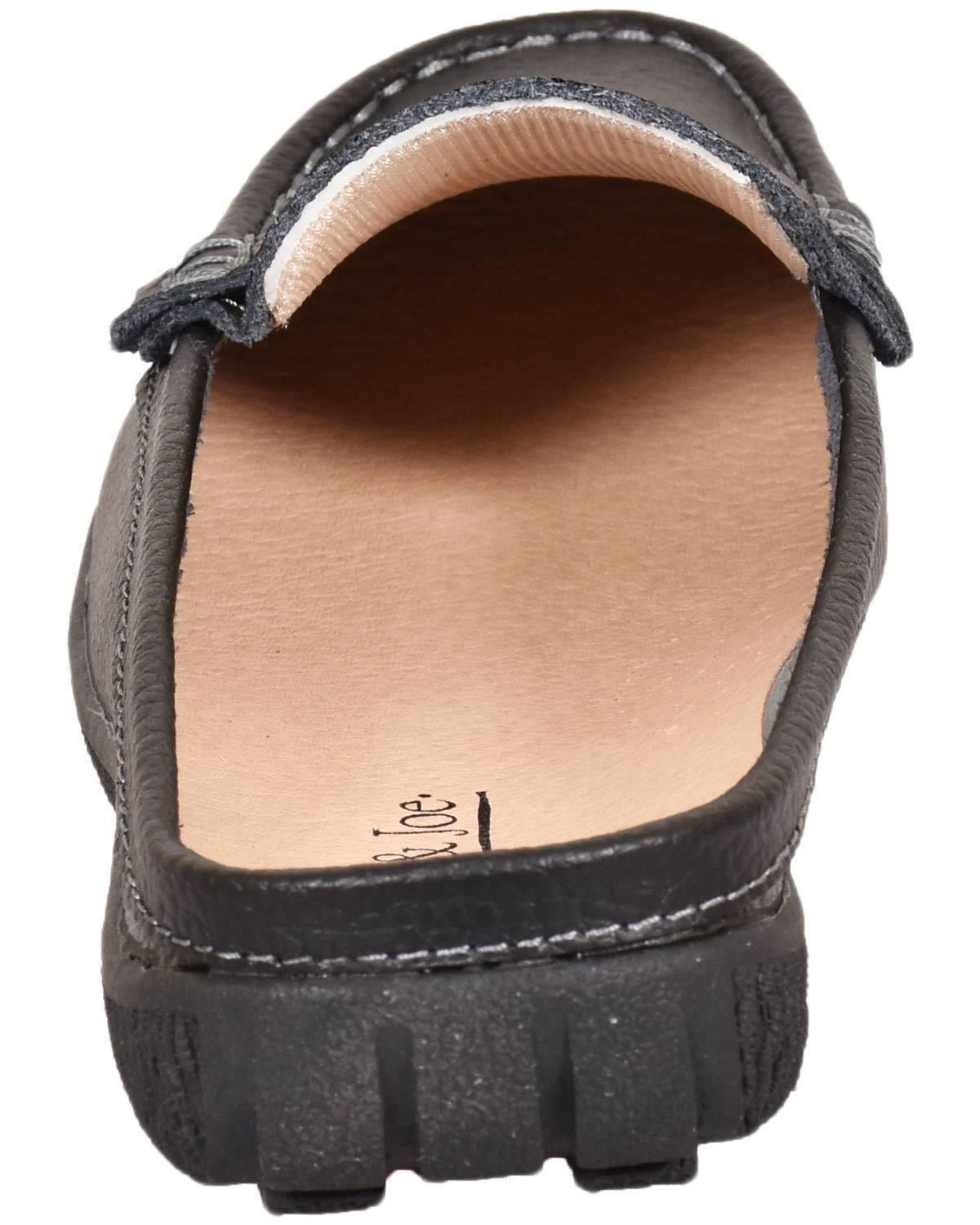 Ladies-Leather-Loafer-Mules-Comfort-Shoes-Womens-Slider-Moccasins-Shoes thumbnail 5