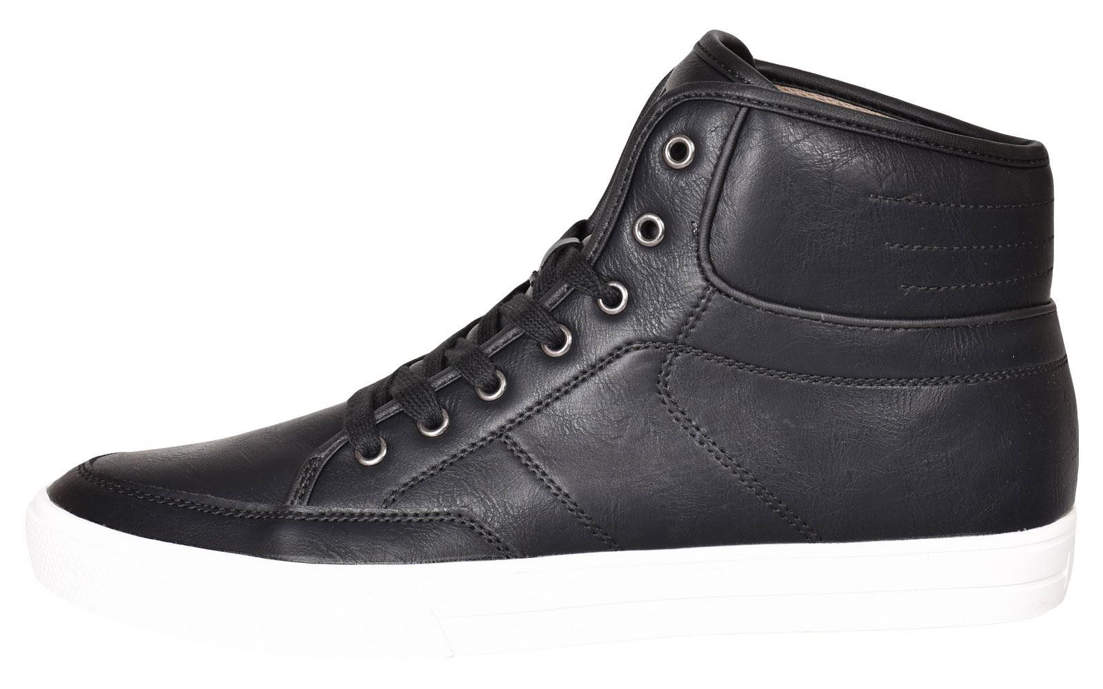 Crosshatch-Para-hombre-Tobillo-Alto-Zapatillas-Sneaker-Con-Cordones-Tapas-Planas-Botas-UK-Tamanos-7 miniatura 4