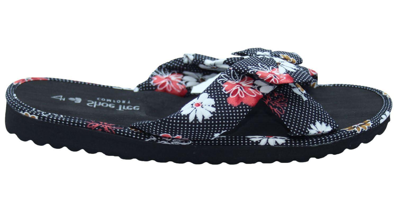 Ladies-Mule-Hawaiian-Floral-Womens-Beach-Slipper-Slip-on-Shoes thumbnail 9