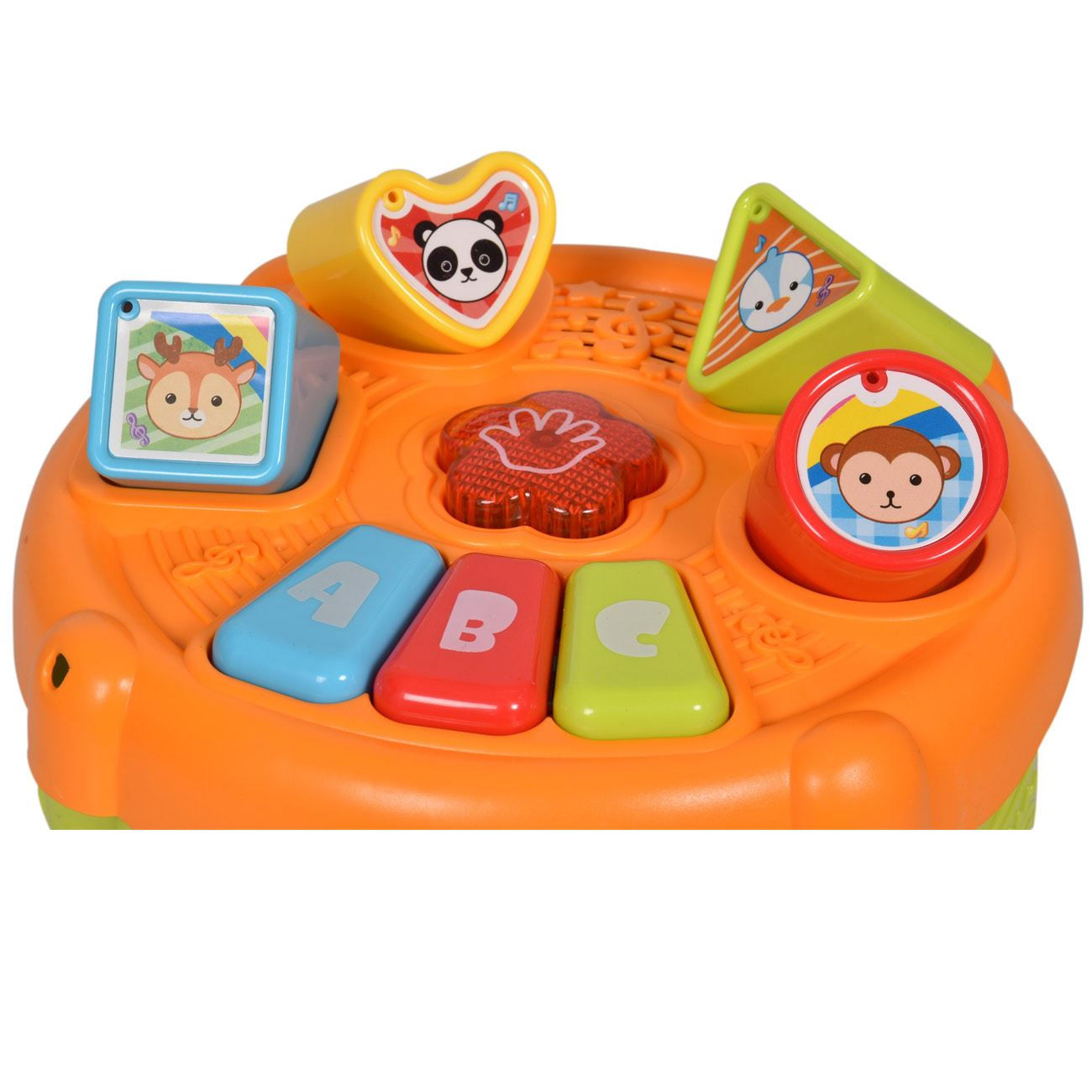 Kids Play Learn Activity Toy Drum Block Sorter Play set Funny Music Xmas Gift 3+