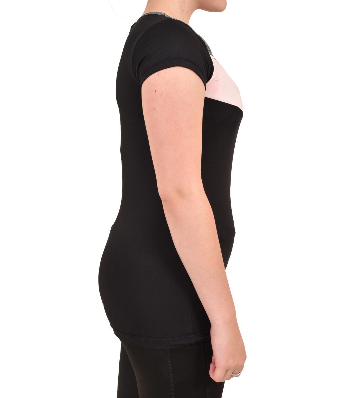 Camiseta-para-mujer-Skechers-Secado-Rapido-Top-senoras-de-Deportes-Activewear-Gimnasio-Fitness-Dance miniatura 5