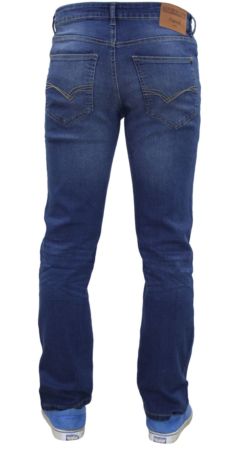 Life /& Glory Mens Slim Fit Jeans Stretch Trousers Buttoned Denim Pants With Free Gaffer Belt