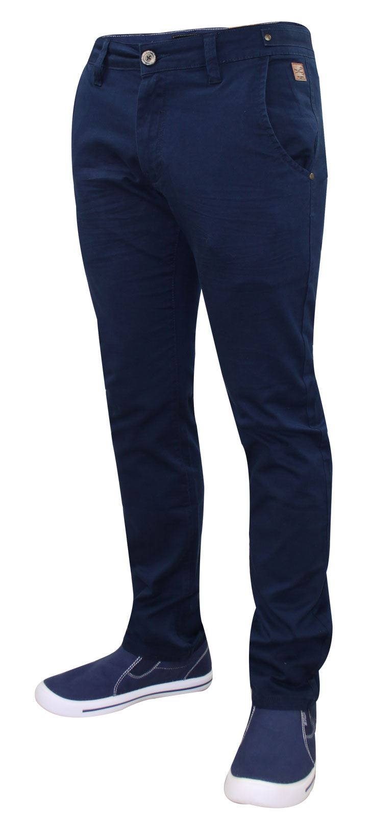 Men-Chinos-Trousers-Regular-Fit-Stretch-Cotton-Jeans-Pants-All-Waist-Sizes thumbnail 16