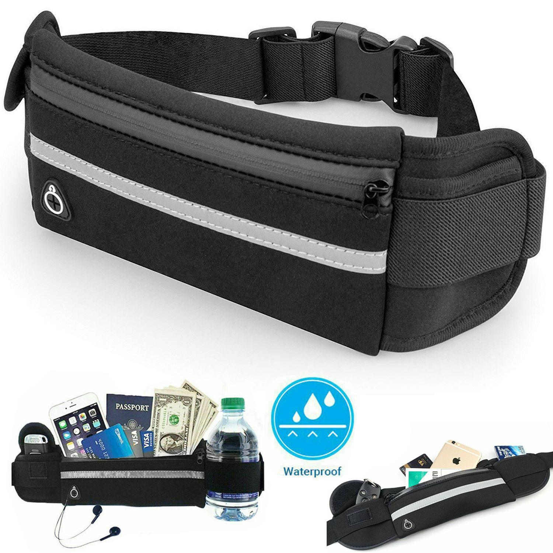 Luminous Running Belt Unisex Sport Jogging Phone Keys Mobile Waist Bag Travel