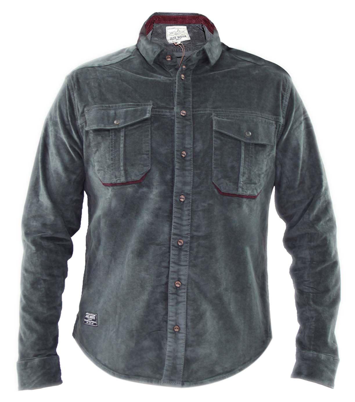 Mens Jacksouth Designer Long Sleeve Corduroy Casual