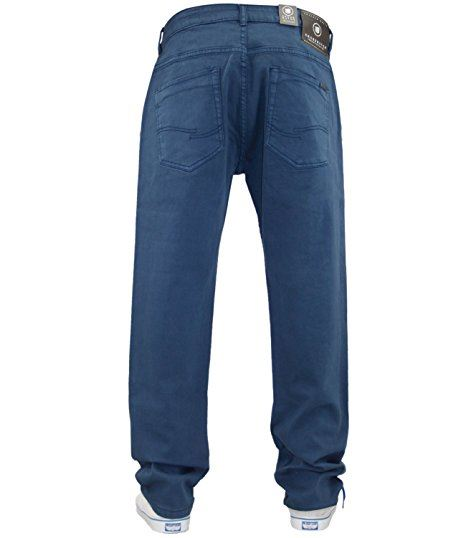 Mens-Slim-Fit-Pantalones-Pantalones-Vaqueros-Crosshatch-Stretch-Denim-Cintura-Tallas-30-38 miniatura 15