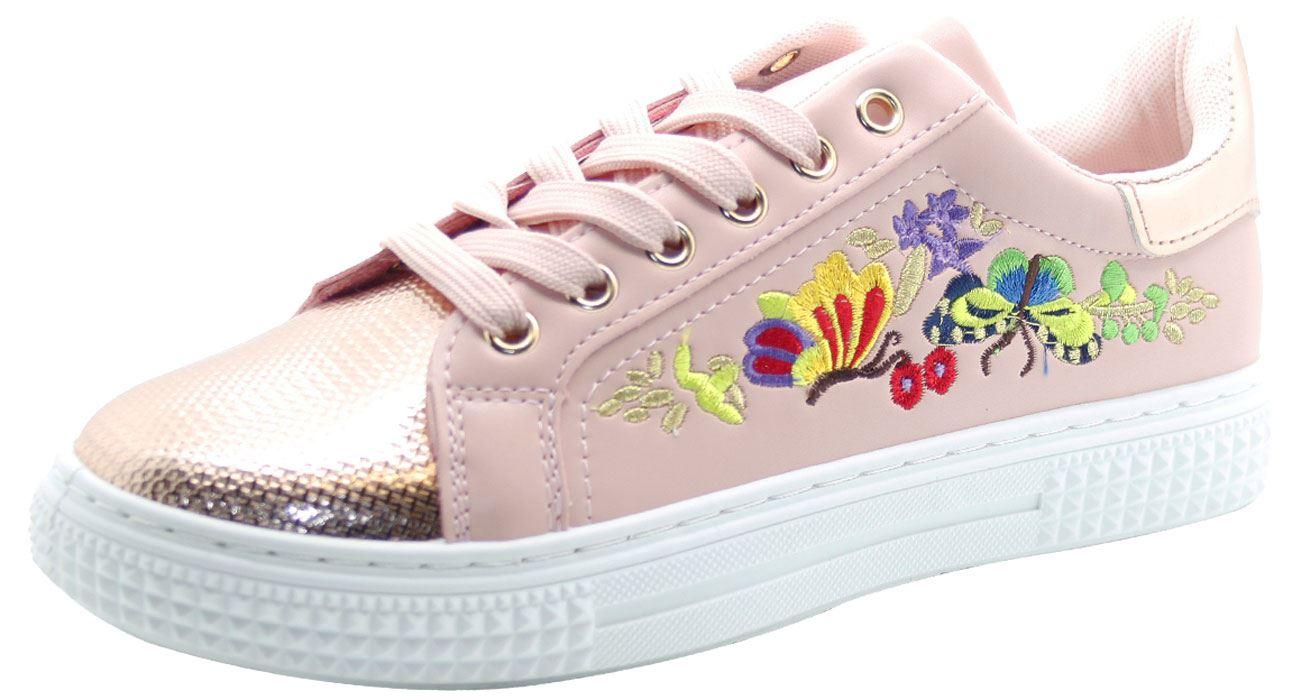 Nuevo Flor Mujer Bordado Zapatillas Suave Cama Zapatos plimsols tipo bota