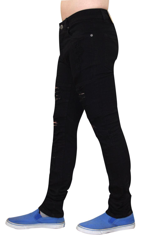 Para-Hombre-Biker-Skinny-Jeans-lealtad-amp-Faith-Slim-Fit-Pantalones-Ajustados-Pantalones-rasgada miniatura 9