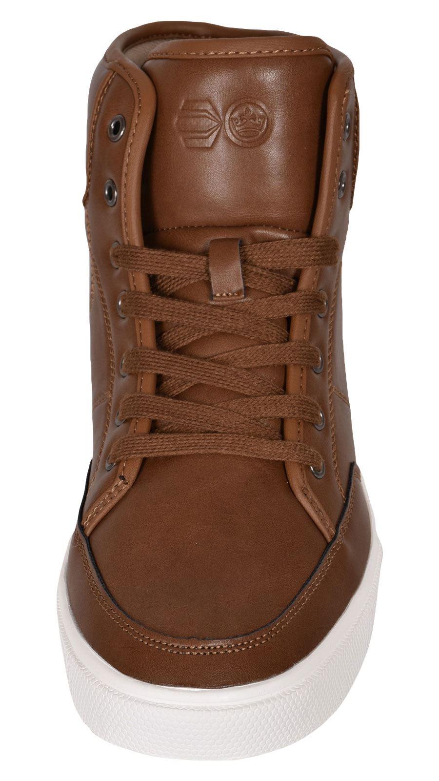 Crosshatch-Para-hombre-Tobillo-Alto-Zapatillas-Sneaker-Con-Cordones-Tapas-Planas-Botas-UK-Tamanos-7 miniatura 29