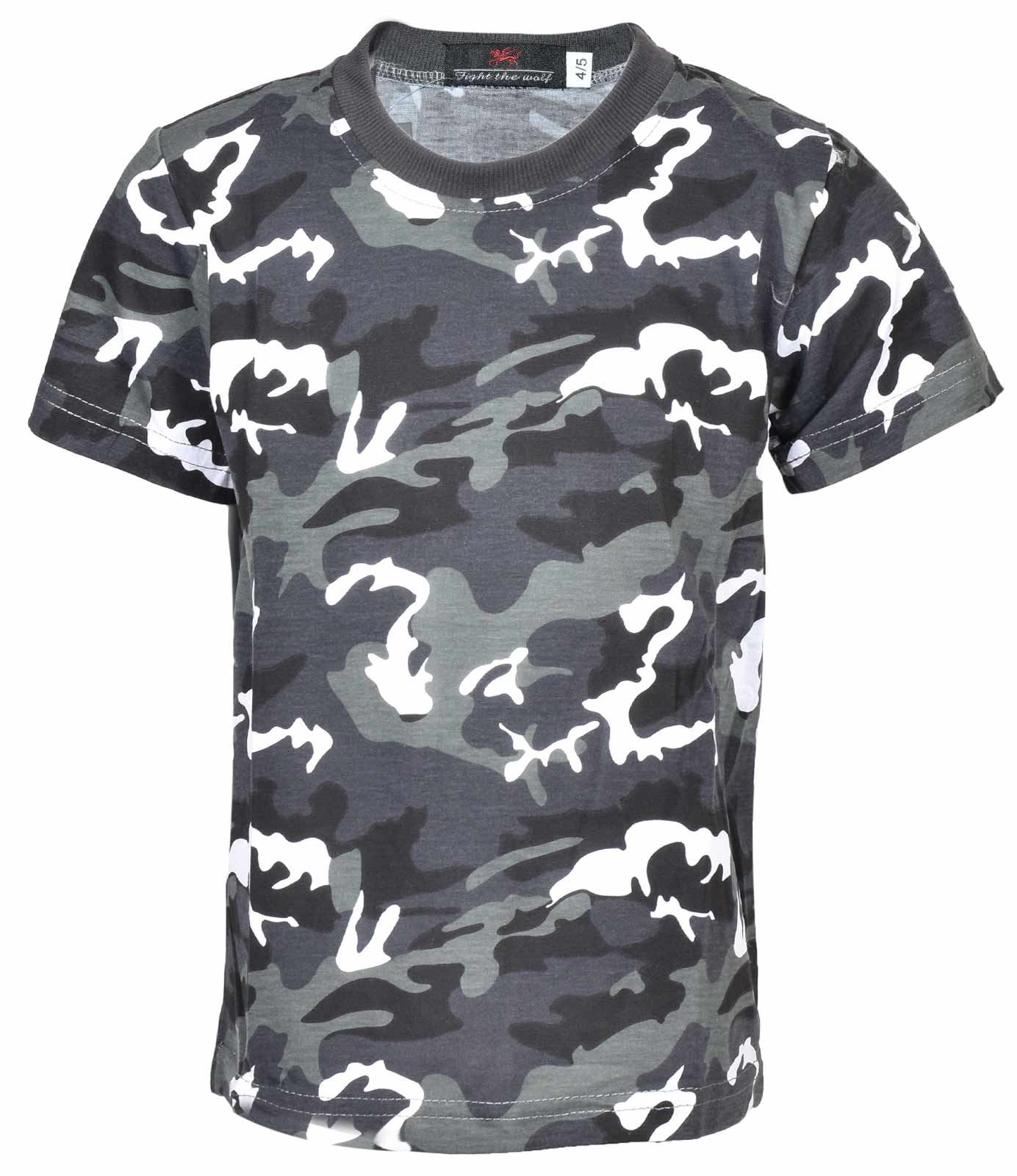 ARMY MTP // WOODLAND CAMO // 9-11 YEARS KIDS BOYS CAMOUFLAGE T-SHIRT BNWT