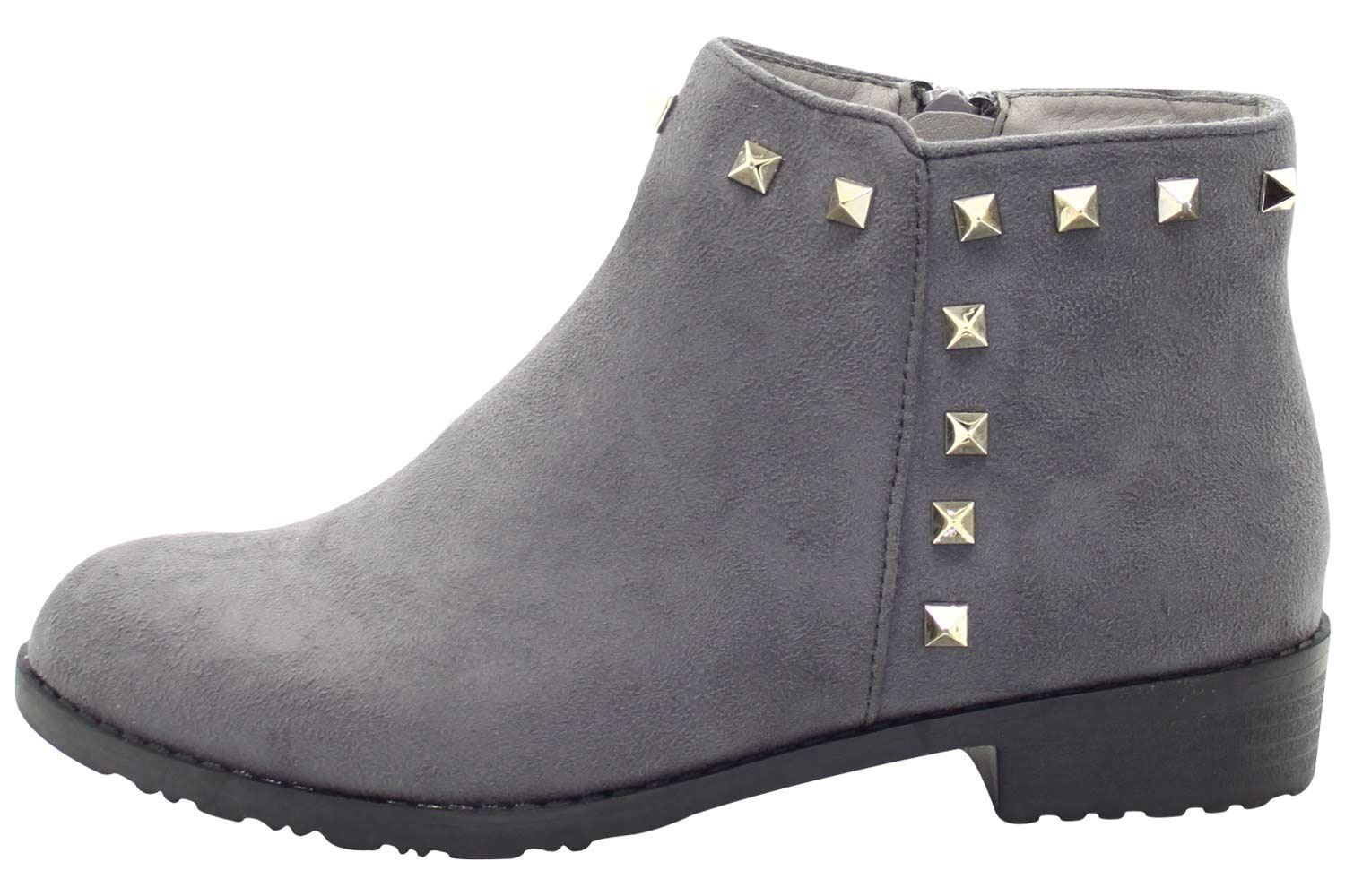 New-Women-Chelsea-Ankle-Boots-Winter-Block-Heel-Ladies-Biker-Style-Boots thumbnail 23