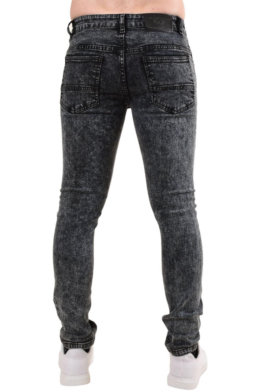 Mens-Ripped-Skinny-Jeans-Super-Stretch-Slim-Fit-Denim-Pants-Black-Trousers-28-38 thumbnail 5